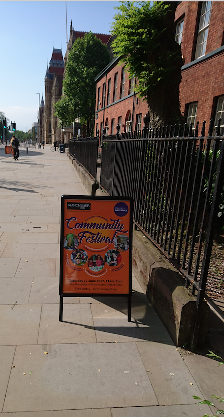 Advertising outside the museum