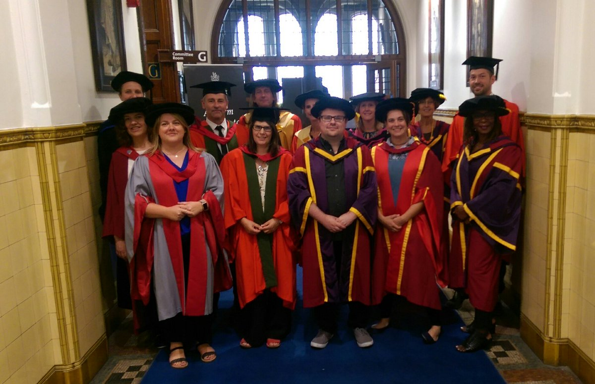 Psychology staff at the graduation ceremony