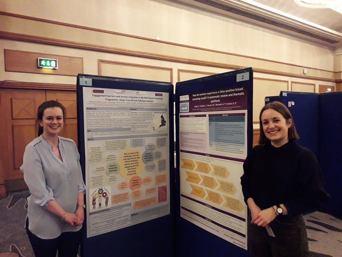 Vicky and Hannah presenting their research