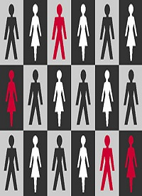 male and female checkerboard symbol images