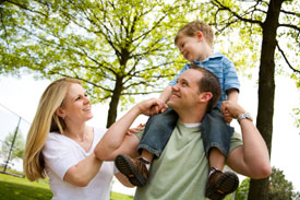 Young family having a great day out in the park (istockphoto.com)