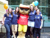 Members of the team with Boots' Sunshine Sam